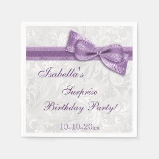 Damasco y arco de la fiesta de cumpleaños de la servilleta de papel