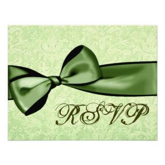 Damasco y arco verde RSVP de la verde lima Invitacion Personalizada