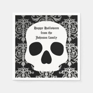 Damasco y cráneo elegantes Halloween personalizado
