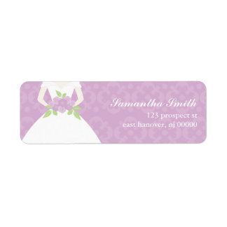 Damasco y etiquetas florales del remite etiqueta de remite