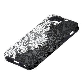 Damascos de aluminio y florales cepillados iPhone 5 Case-Mate cobertura