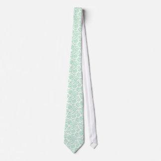 Damascos florales 4 del vintage de la verde menta corbata