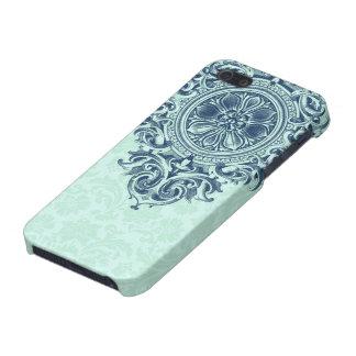 Damascos florales de la verde menta y ornamento iPhone 5 funda