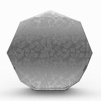 Damascos florales monocromáticos del gris de plata