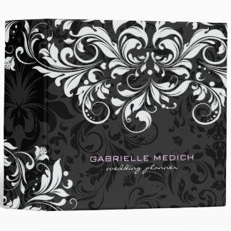 """Damascos florales negros y blancos 2 del vintage carpeta 2"""""""