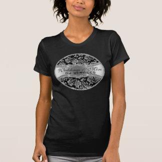 Damascos metálicos de plata 3 del vintage camisetas
