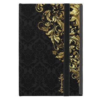 Damascos negros del vintage y cordón floral del iPad mini cárcasas