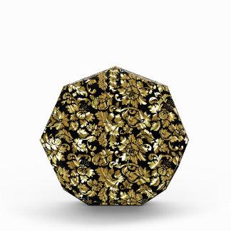 Damascos negros y metálicos del vintage del oro