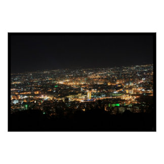 Damascus at night - Syria Poster