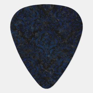 DAMASK1 BLACK MARBLE & BLUE GRUNGE GUITAR PICK