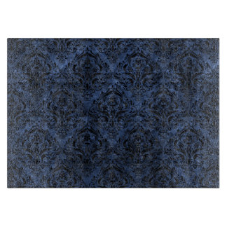 DAMASK1 BLACK MARBLE & BLUE STONE (R) CUTTING BOARD