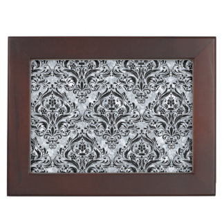 DAMASK1 BLACK MARBLE & GRAY MARBLE (R) MEMORY BOX