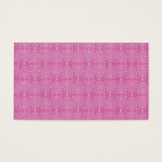 damask22  HOT PINK WHITE DAMASK DECORATIVE SCROLL Business Card