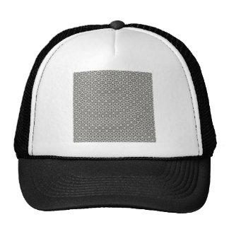 DAMASK29 DAMASK BLACK WHITE PATTERN TEXTURE TEMPLA TRUCKER HAT