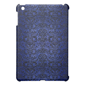 DAMASK2 BLACK MARBLE & BLUE BRUSHED METAL (R) iPad MINI COVERS