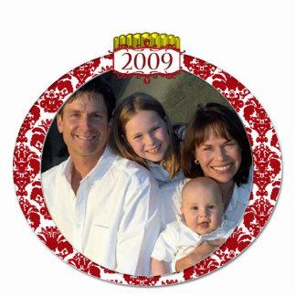 Damask 2009 Family Photo Christmas Ornament