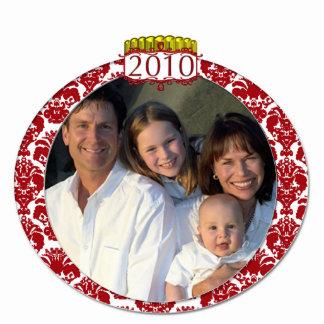 Damask 2010 Family Photo Christmas Ornament