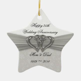 25th Anniversary Ornaments Keepsake Ornaments Zazzle