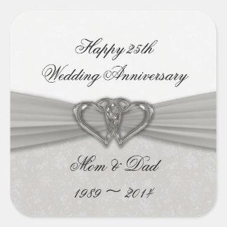 Damask 25th Wedding Anniversary Sticker