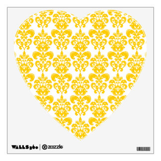damask 2 pat yellow ffcc00.png wall decal