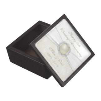 Damask 30th Wedding Anniversary Gift Box