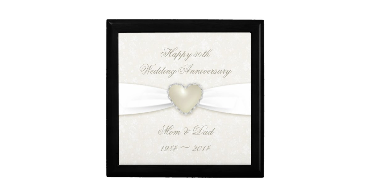 Wedding Anniversary Gift Box : Damask 30th Wedding Anniversary Gift Box Zazzle