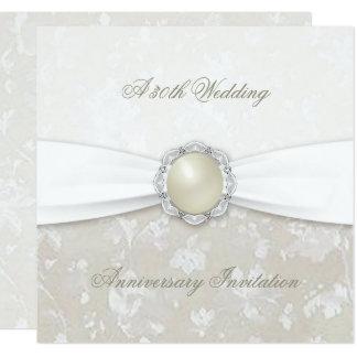 Damask 30th Wedding Anniversary Invitation
