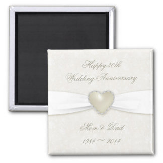 Damask 30th Wedding Anniversary Magnet