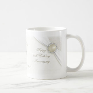 Damask 30th Wedding Anniversary Mug