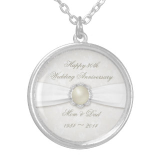 Damask 30th Wedding Anniversary Necklace
