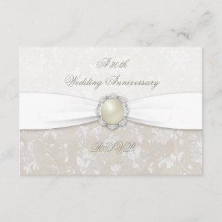 Damask 30th Wedding Anniversary RSVP