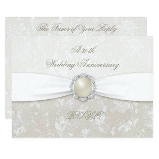Damask 30th Wedding Anniversary RSVP Card