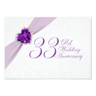 Damask 33rd Wedding Anniversary Invitation
