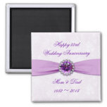 Damask 33rd Wedding Anniversary Magnet