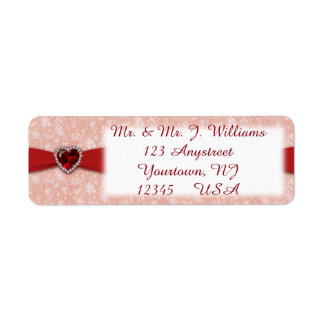 Damask 40th Anniversary Return Address Labels