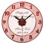 Damask 40th Wedding Anniversary Clock