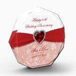 """Damask 40th Wedding Anniversary Design Award<br><div class=""""desc"""">A Digitalbcon Images Design featuring a ruby red and white color and damask design theme with a variety of custom images, shapes, patterns, styles and fonts in this one-of-a-kind &quot;Damask 40th Wedding Anniversary Design&quot;. With this attractive and elegant design you&#39;ll have all your decorations, gift ideas and party favors all...</div>"""