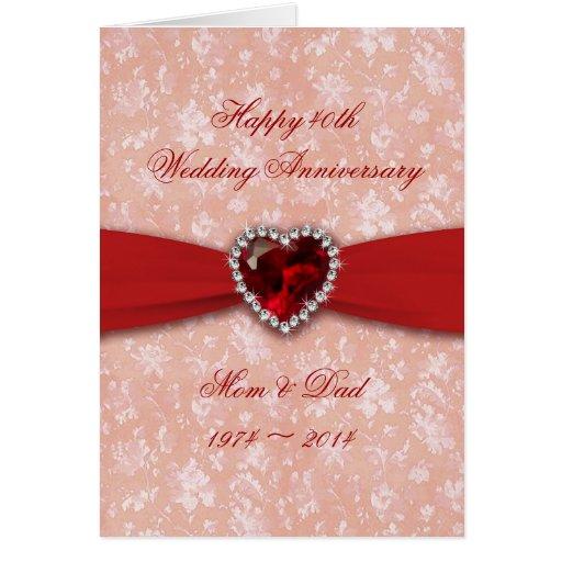 Damask th wedding anniversary design greeting card zazzle