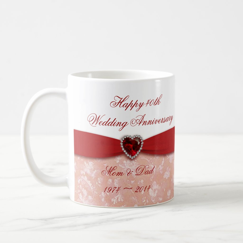 40th Ruby Wedding Anniversary Gifts Ideas