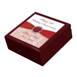 Damask 40th Wedding Anniversary Gift Box