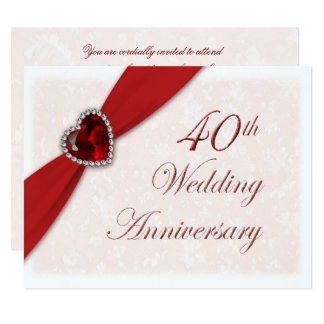 40th Anniversary Invitations, 1300+ 40th Anniversary Announcements ...