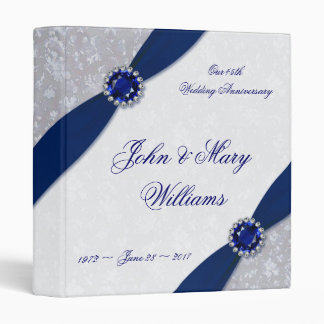 Damask 45th Wedding Anniversary 1in Binder