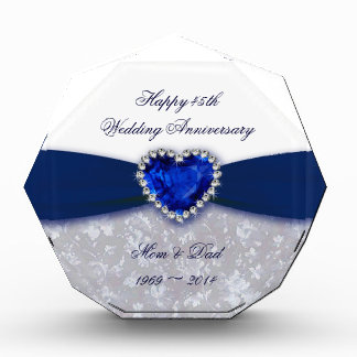 Damask 45th Wedding Anniversary Award
