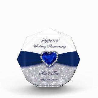 Damask 45th Wedding Anniversary Award