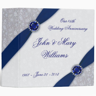 Damask 45th Wedding Anniversary Binder