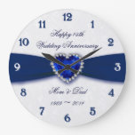 Damask 45th Wedding Anniversary Clock