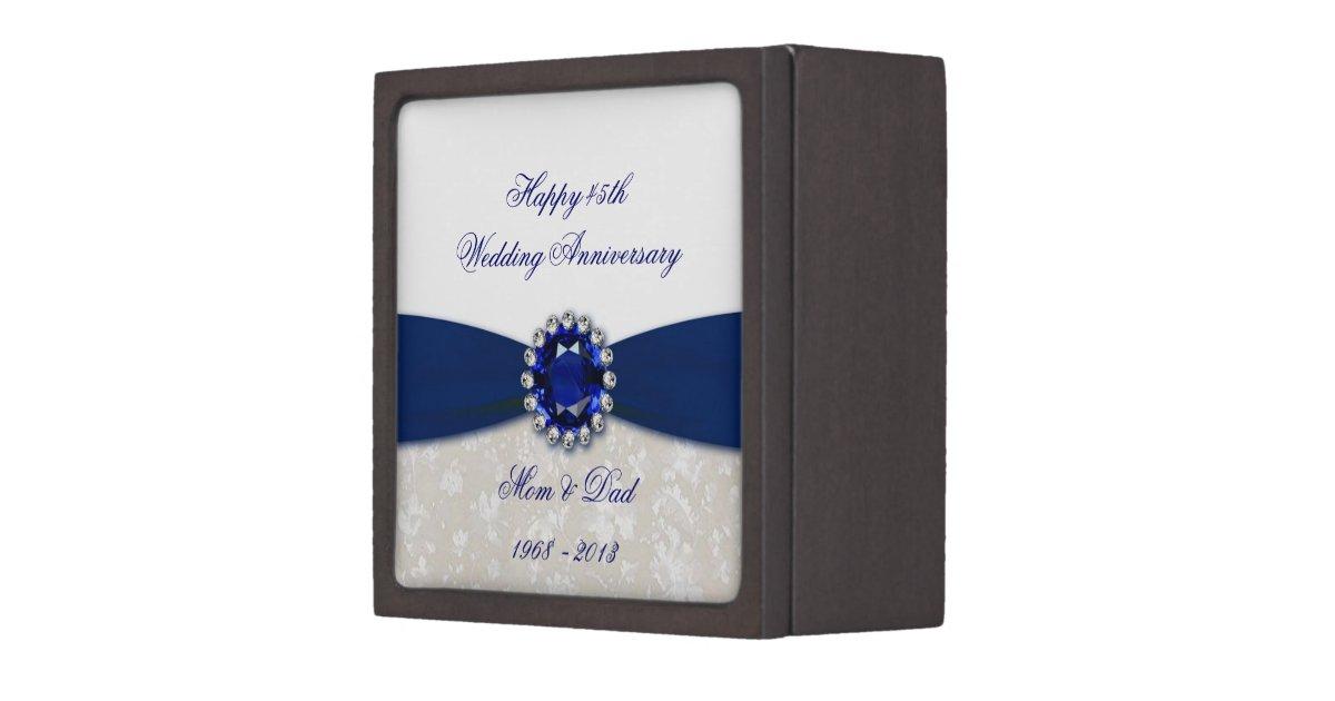 Wedding Anniversary Gift Box : Damask 45th Wedding Anniversary Gift Box Zazzle