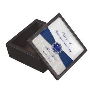 Damask 45th Wedding Anniversary Gift Box
