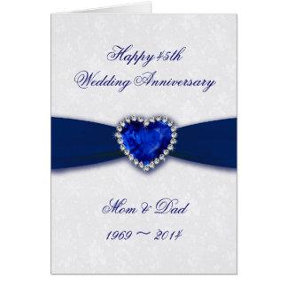 personalized 45th wedding anniversary card zazzle kotaksurat co