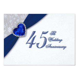 45th Wedding Anniversary Invitations & Announcements Zazzle